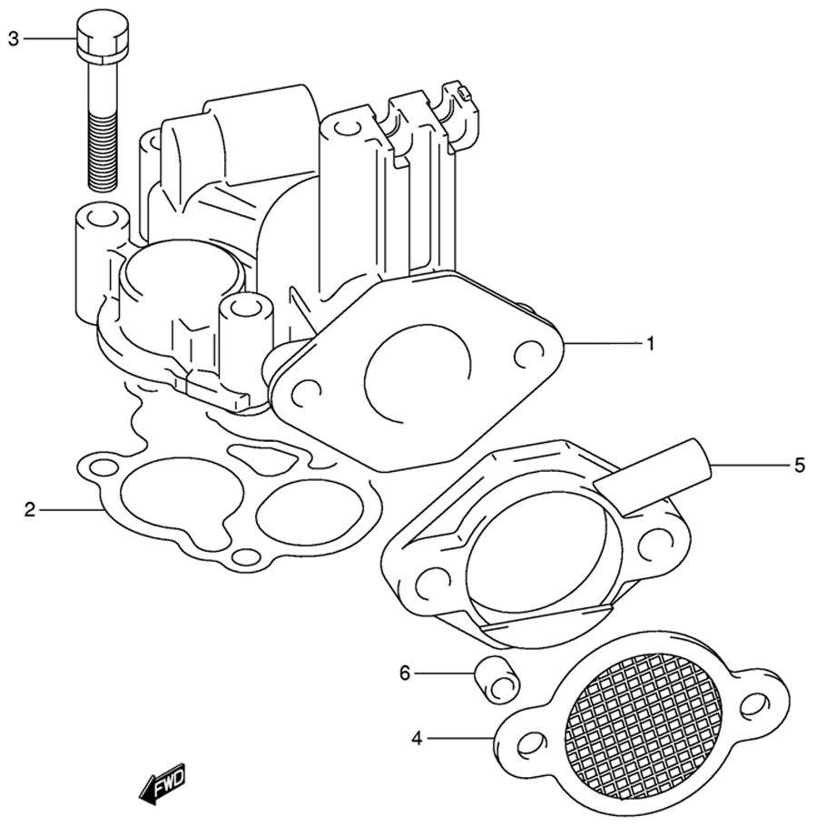 Впускной трубопровод (Inlet Manifold) лодочного двигателя