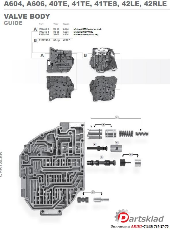 Схема АКПП A604\40TE\41TE\41TES \\ A606\42LE Crysler