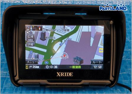 X-RIDE バイクナビ RM-XR432MC  2012年マップ  ガレージオフ 八王子堀之内店