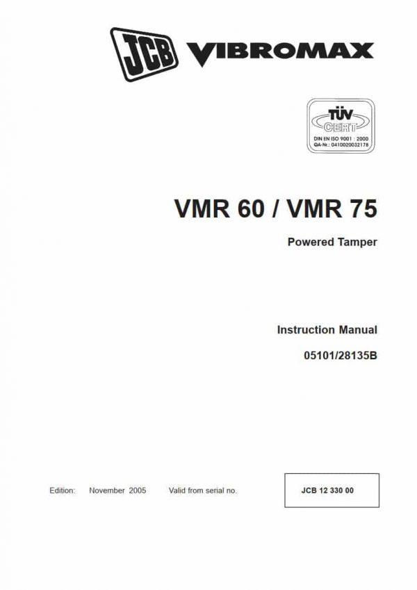 Powered Tamper VMR60/VMR75 (Instruction Manual)