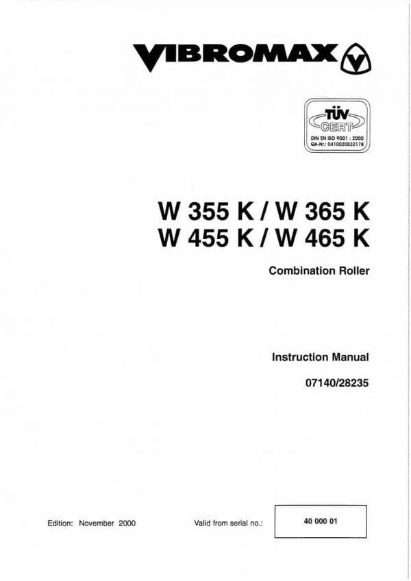 Combination Roller W355K/W365K/W455K/W465KPN