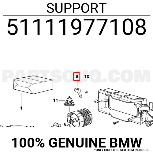 51111977108 BMW SUPPORT, Price: 2.06$, Weight: 0.04kg