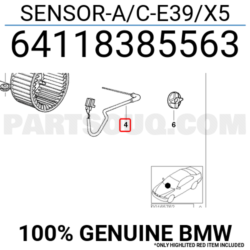 64118385563 BMW SENSOR-A/C-E39/X5, Price: 39.07$, Weight