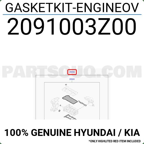 2091003Z00 Hyundai / KIA GASKETKIT-ENGINEOV, Price: 91.19
