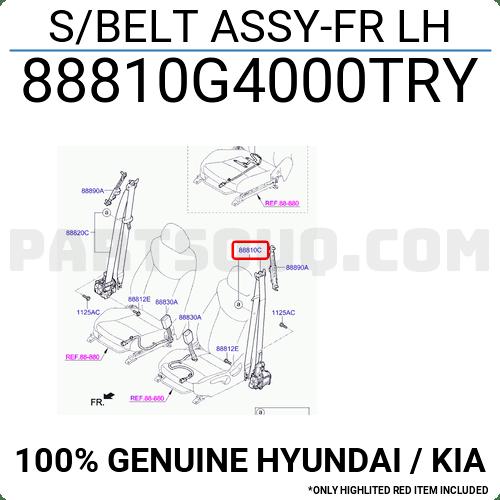 88810G4000TRY Hyundai / KIA S/BELT ASSY-FR LH, Price: 123