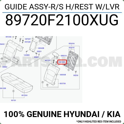 89720F2100XUG Hyundai / KIA GUIDE ASSY-R/S H/REST W/LVR