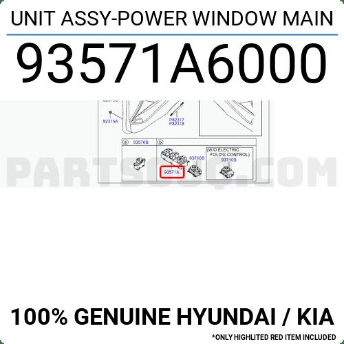 93571A6000 Hyundai / KIA UNIT ASSY-POWER WINDOW MAIN