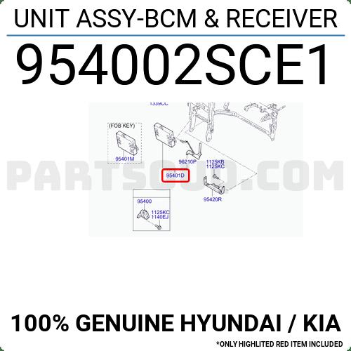 954002SCE1 Hyundai / KIA UNIT ASSY-BCM & RECEIVER, Price