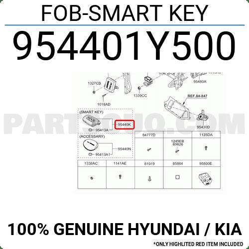 954401Y500 Hyundai / KIA FOB-SMART KEY, Price: 106.99