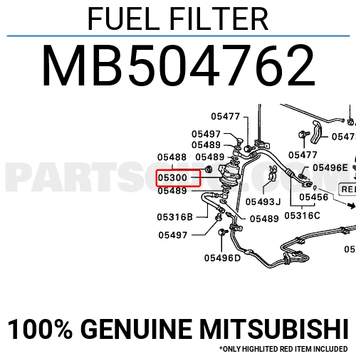 MB868452 Mitsubishi FUEL FILTER, Price: 52.03$, Weight: 0