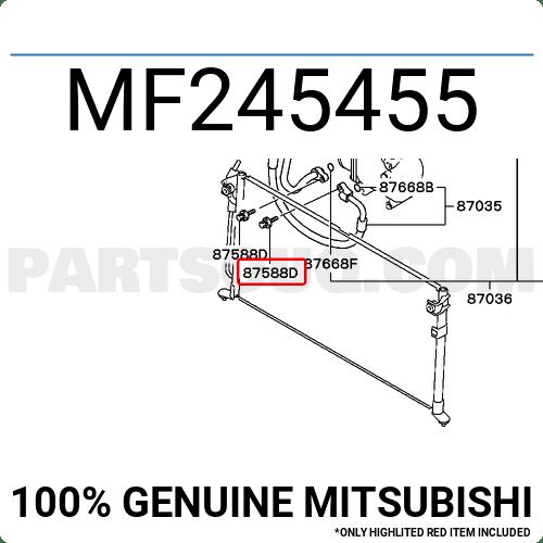 MF245455 Mitsubishi BOLT,A/C PIPING, Price: 1.04$, Weight