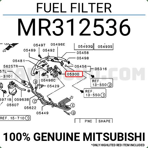 MB868452 Mitsubishi FUEL FILTER Price: 56.52$, Weight: 0
