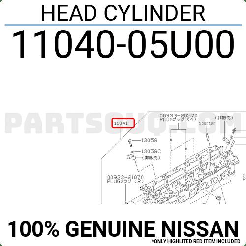 1104005U00 Nissan HEAD CYLINDER, Price: 1076.05$, Weight