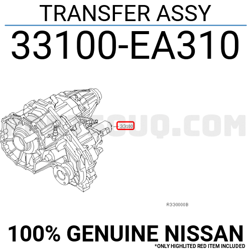 33100EA310 Nissan TRANSFER ASSY, Price: 2720.57$, Weight