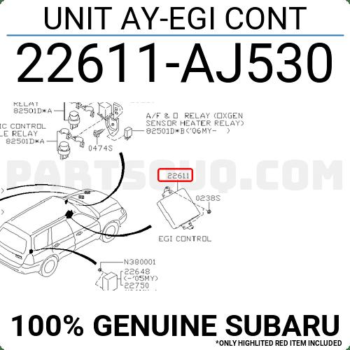 22611AJ530 Subaru UNIT AY-EGI CONT Price: 867.24$, Weight