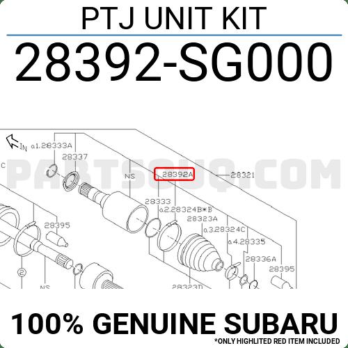 28392SG000 Subaru PTJ UNIT KIT, Price: 143.07$, Weight: 2