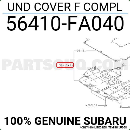 56410FA040 Subaru UND COVER F COMPL, Price: 57.71$, Weight