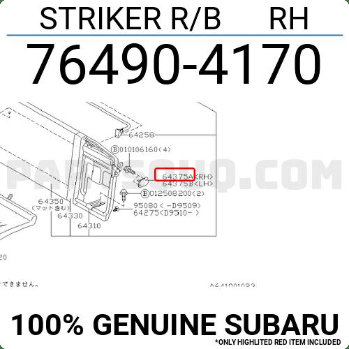 764904170 Subaru STRIKER R/B RH, Price: 6.99$, Weight: 0