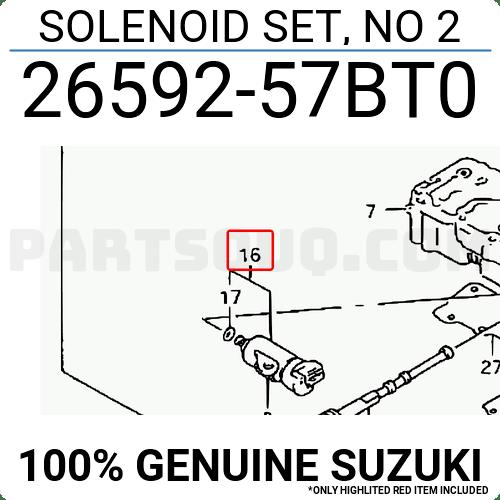 2659257BT0 Suzuki SOLENOID SET, NO 2, Price: 128.06