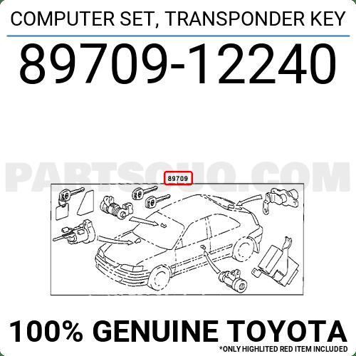 8970912240 Toyota COMPUTER SET, TRANSPONDER KEY, Price