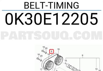 243122X000 Hyundai / KIA BELT-TIMING Price: 52.28$, Weight
