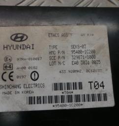 8 of 12 2003 hyundai getz 1 3 petrol manual ignition kit engine ecu fuse box [ 1599 x 899 Pixel ]