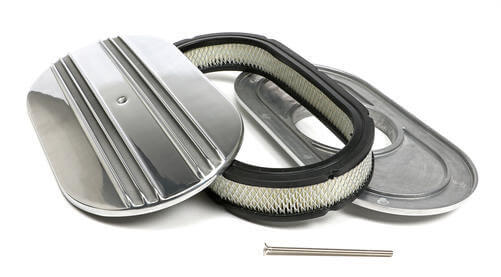 Trans Dapt Performance (6048): Finned Aluminum Oval Air Cleaner Set