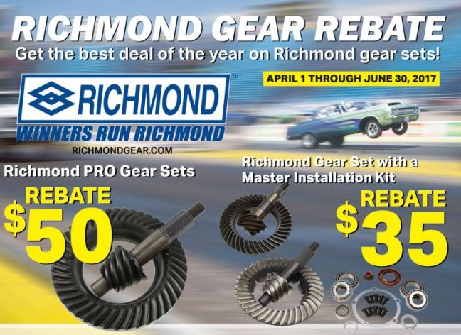 Richmond Gear Rebate