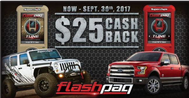 Superchips: $25 Cash Back on Flashpaq