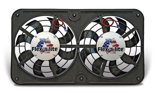 Flex-a-lite Dual Lo-Profile S-Blade Electric Fan with VSC