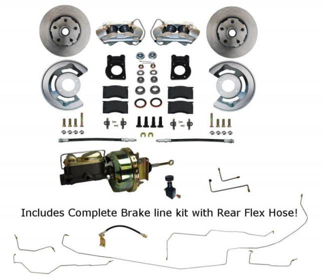 LEED Brakes Power Disc Brake Conversion Kit with Pre-Bent Brake Line