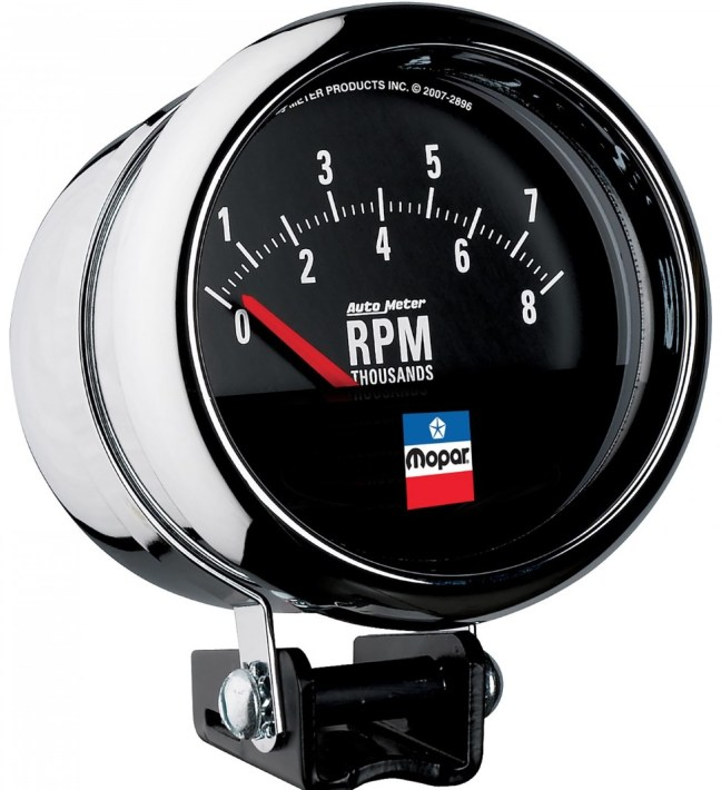 """AutoMeter (880789): Mopar Classic 3.75"""" Tachometer"""