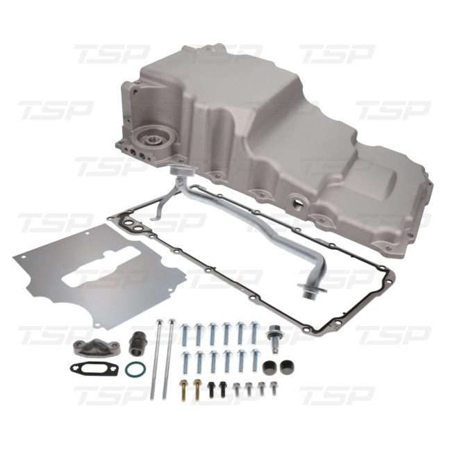 Top Street Performance (81075): LS Aluminum Rear Sump Low-Profile Retro-Fit Oil Pan with Added Clearance