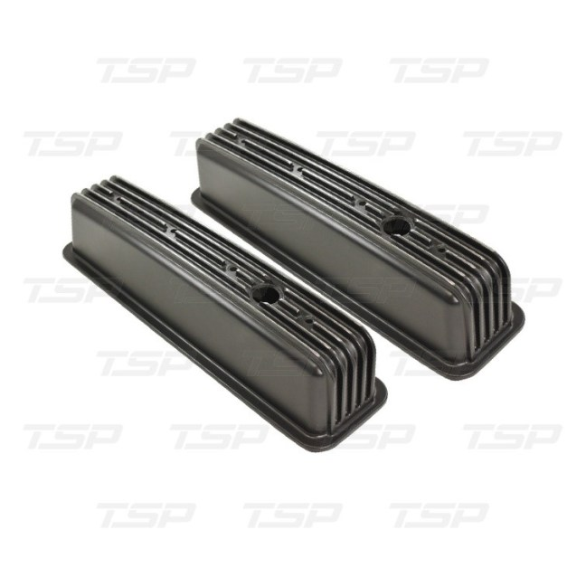 Top Street Performance (SP8528BK) Black Series Center-Bolt Valve Covers for Small Block Chevy