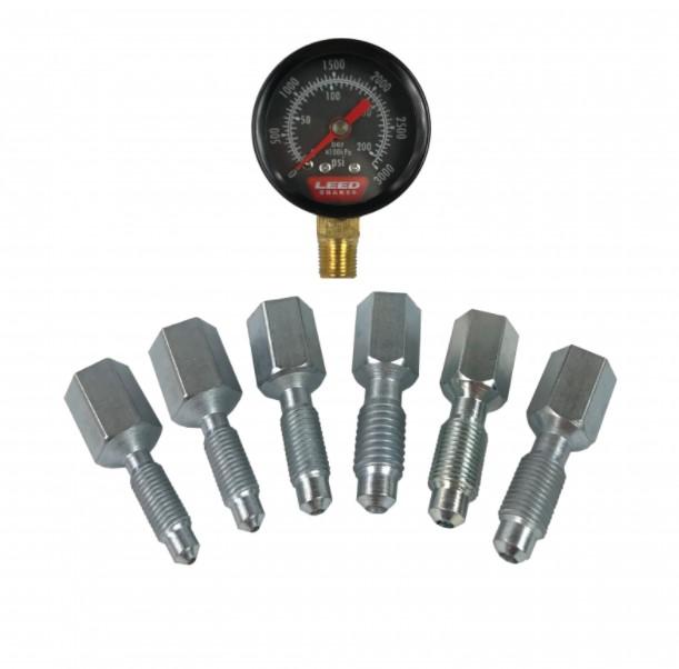 LEED Brakes Brake Pressure Gauge Kit BPG001