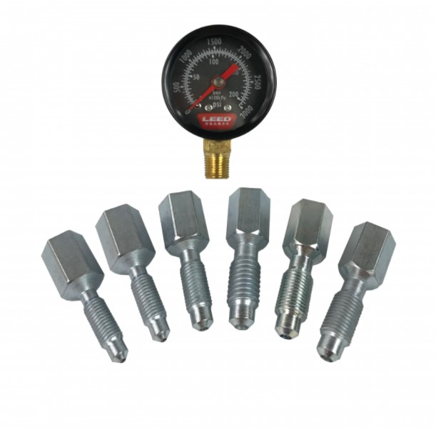LEED Brakes Brake Pressure Gauge Kit BPG001
