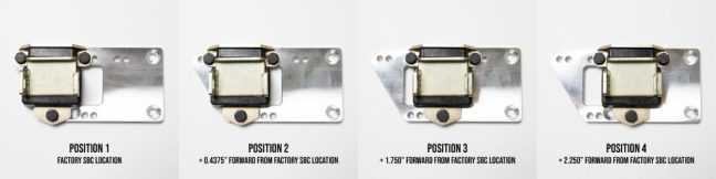 Racing Power Company LS Motor-Mount Adapter Plate Locations