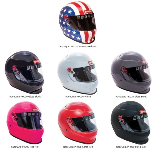 RacqQuip PRO20 Snell SA2020 Full Face Helmets