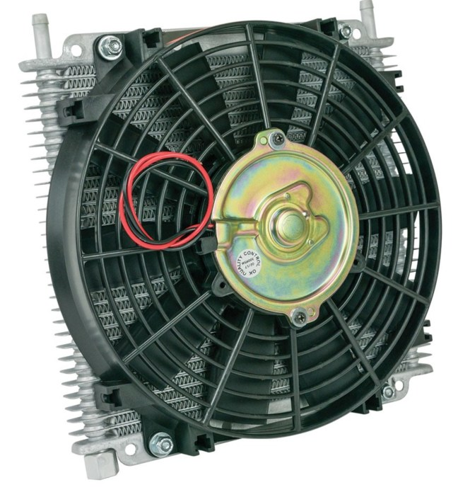 Flex-A-Lite Remote Mount Stacked Plate 29 Row Transmission Cooler with Electric Fan 114213