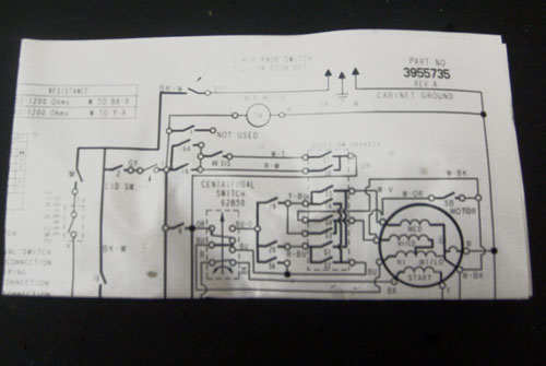 Dryer Wiring Diagram Machine Washing Kenmore Model 110 Diagram Kenmore
