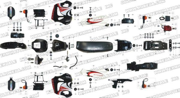 STORM 250 DB-08-250cc Parts List » Roketa Parts Online