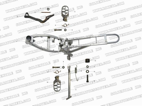 AGB-37CRF-125cc Parts List Archives » Roketa Parts Online