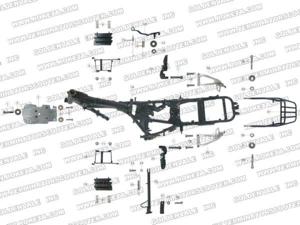 AGB-36-250cc Parts List: Archives > RoketaStore