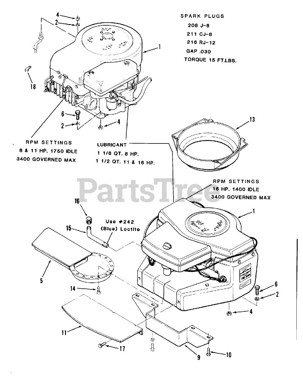 Toro Wheel Horse Parts Lookup : wheel, horse, parts, lookup, B2-16B591, (216-5), Tractor, (1987), ENGINE, Parts, Lookup, Diagrams, PartsTree