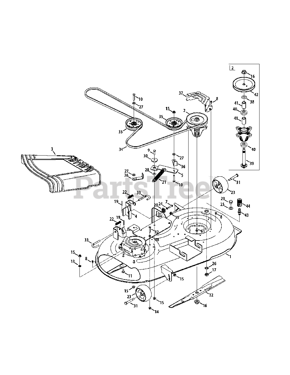 Mtd Mower Deck Diagram 42 Inch : mower, diagram, 17AF2ACS004, Zero-Turn, Mower, (2011), 42-Inch, Parts, Lookup, Diagrams, PartsTree