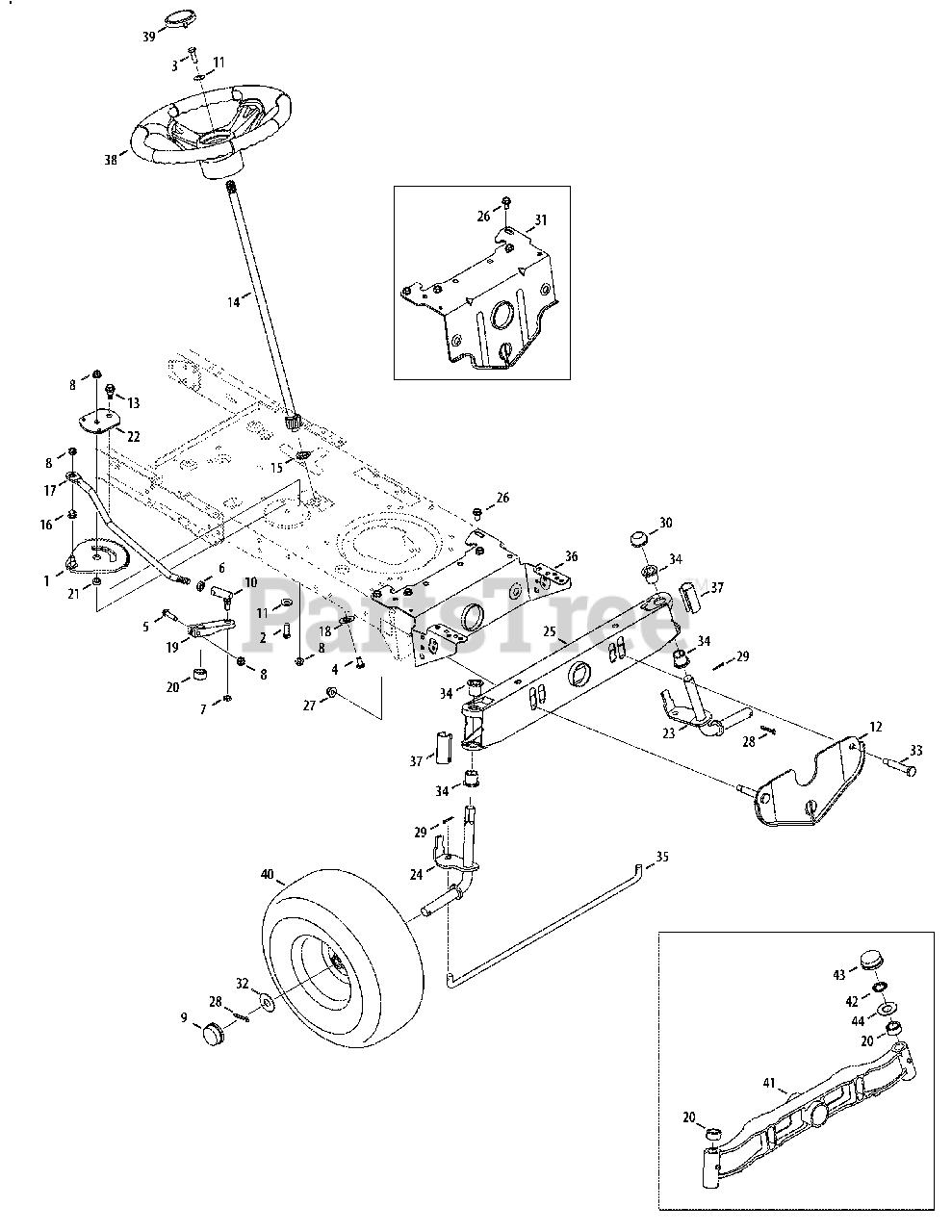 Troy Bilt Pony Parts Diagram : parts, diagram, Troy-Bilt, 13AN77KG011, Tractor, (2008), Steering, Front, Parts, Lookup, Diagrams, PartsTree
