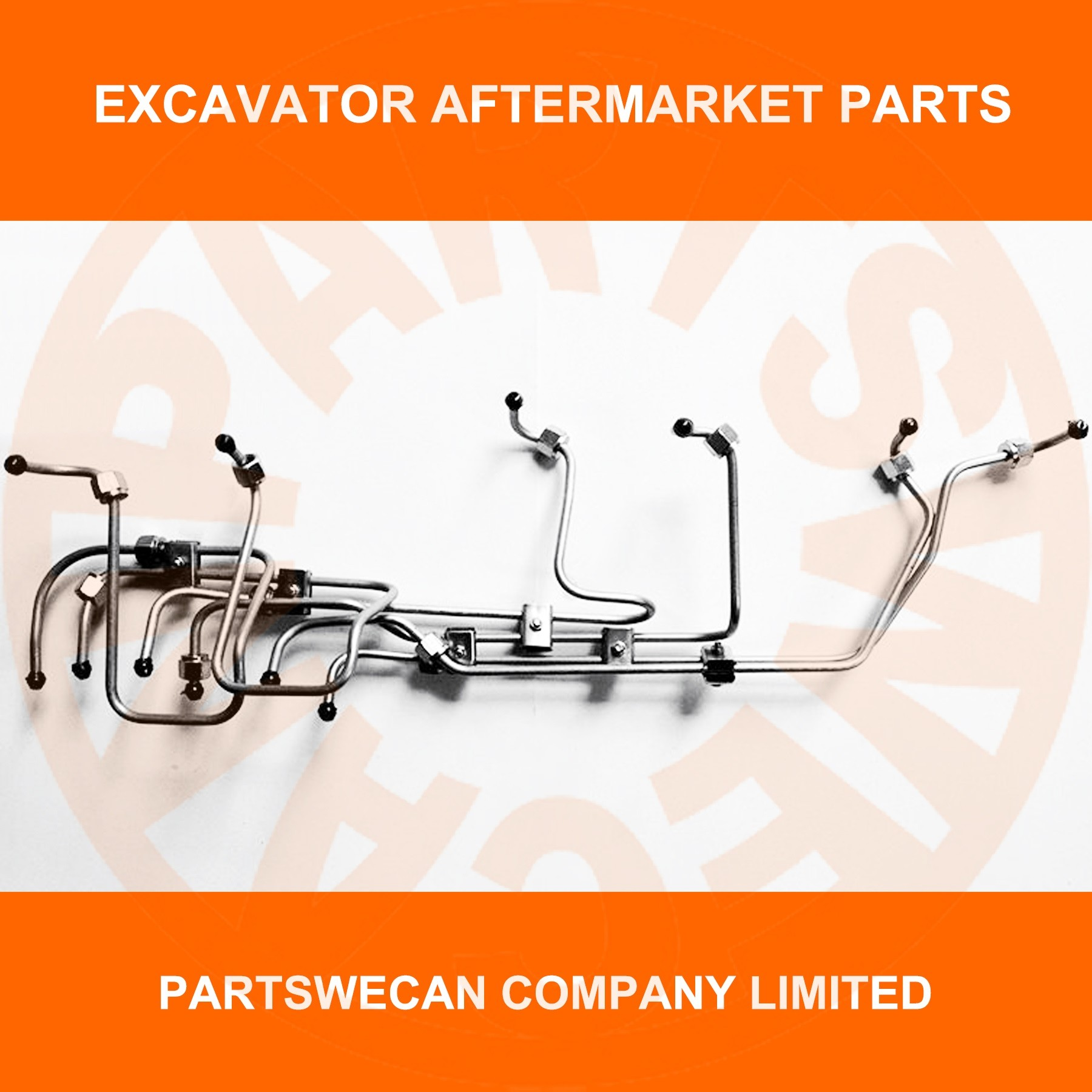 FUEL INJECTION PIPE DAEWOO DB58 DB58T ENGINE DOOSAN DH225 DH220-5 -7  EXCAVATOR AFTERMARKET PARTS