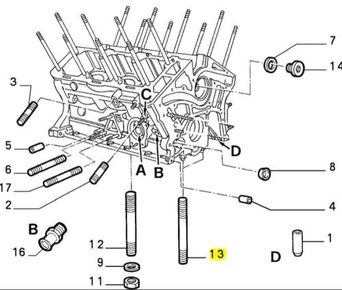 Alfa Romeo RZ SZ 147 155 156 164 166 75 GTV Spider 2500cc