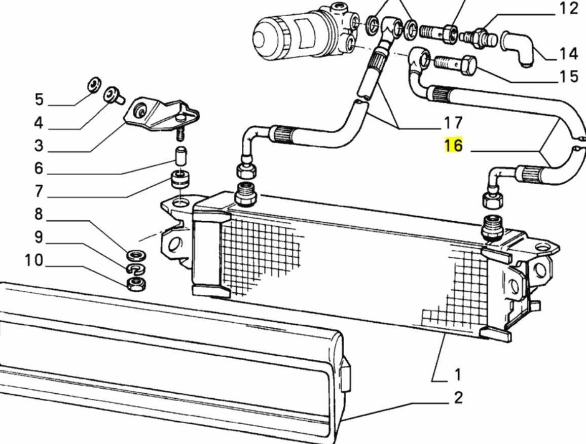 Fiat Mk2 Uno Turbo Oil Cooler Radiator Flexible Hose