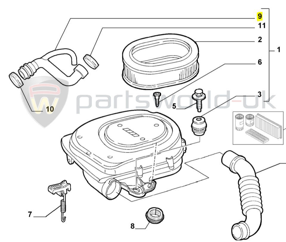 Fiat Engine Oil Breather Pipe Punto Panda Doblo Seicento